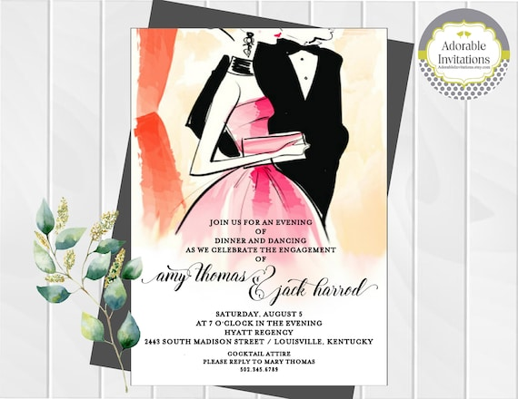 Formal dance invitation engagement party invitation after like this item stopboris Images