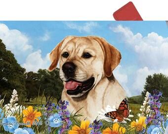 Labrador Retriever Yellow Lab Mailbox Cover