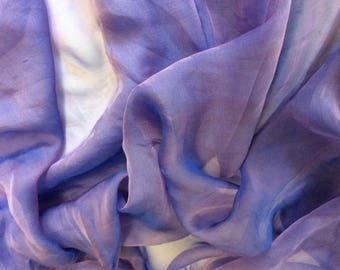 Genuine silk chiffon fabric