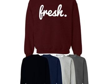 Fresh Sweater Jumper Trend Hipster Mens Womens UK Ships Worldwide S-XXL