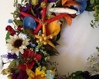 Wreath with Starfish