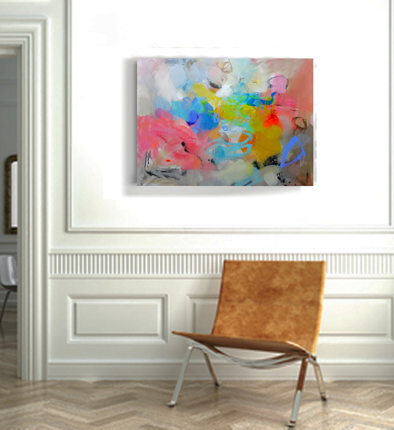 Wall art on canvas Original abstract acrylic painting Large