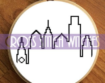 Philadelphia Skyline- PDF Cross Stitch Pattern