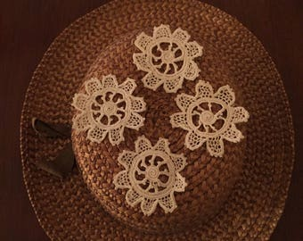 Crocheted Appliques - Set of 4