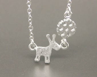 Deer And Snowflake Necklace, Reindeer Necklace, Deer Necklace, Deer Jewelry, Christmas gift, Birthday Necklace. Bridesmaid Necklace NA017