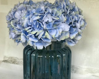 Blue Pom Pom Hydrangea Display
