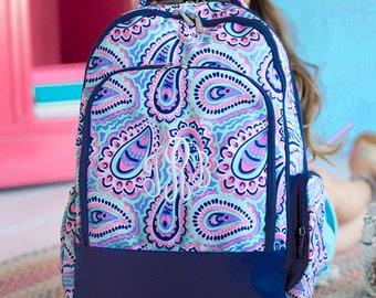 Monogrammed Backpack - Toddler Backpack - Back to School - Preschool Backpack - Personalized Backpack - Girls Lunchbox - Kids Backpack