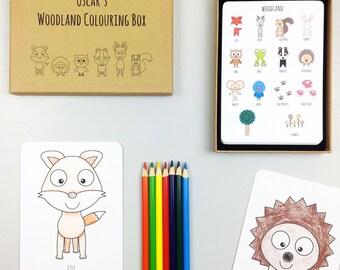 Woodland Colouring Box