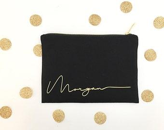 Sacs de maquillage personnalisé pour les demoiselles d'honneur, sac personnalisé pour maquillage cadeau pour elle, Make Up sac trousse de toilette sac cadeau personnalisé,