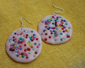 handmade polymer clay earrings  different color