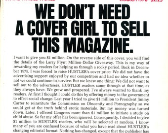 Hustler Magazine March 1978 Very Good condition Mature