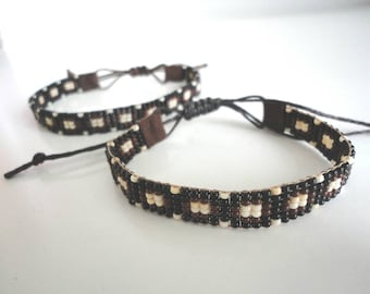 Hand-woven beaded bracelet.  Boho Native American