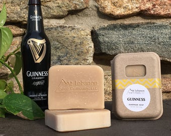 Guinness Soap - Beer Soap - Foodie Gift Men - Unscented Soap - All Natural Soap - Beer Bar - Handmade Soap - Guinness - Boyfriend Gift -