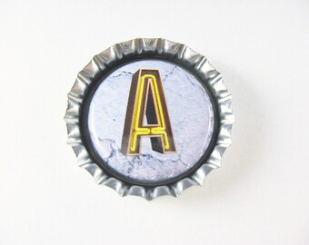 Bottle Cap Fridge Magnet Home & Living, Kitchen, Storage Choice of Letter Neon Personalize