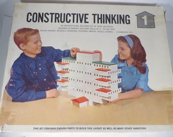 Mid Century Constructive Thinking Building Blocks - Architectural Building Block Set