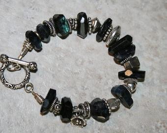 STORMY Labradorite, Bali, Hilltribe and Sterling Bracelet