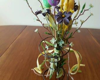 Easter Egg floral arrangement - Bed Spring