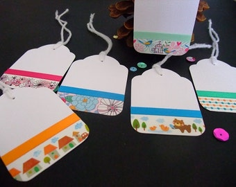 Tags, Birthday Tags, Birthday, Celebration,  Parties, Thank you Tags, Birthday Gift Tag [Set of 6]