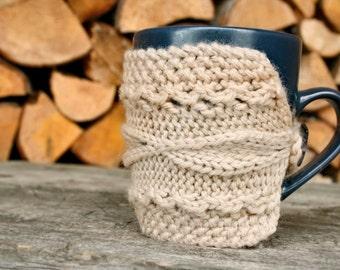 Tasse gemütlich, Beige Kaffeetasse gemütlich, Kaffee Manschette, bereit-zu-Schiff
