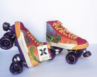 Candy Girl-Nike Blazer Roller Skates w/ Swarovski Crystals Bling