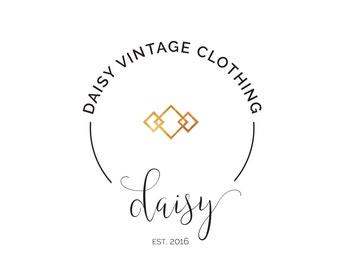Pre-made Logo Design | 'Daisy' | Gold Foil Logo | Photography Logo | Blog Header | Business Branding | Branding Design | Shop logo