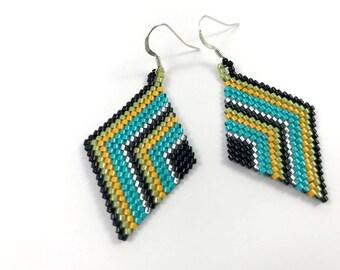 Arrow Diamond Dangle Earrings