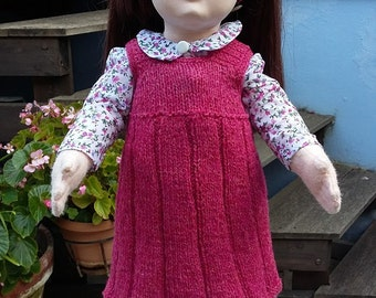 Pinafore dress for 18 inch dolls