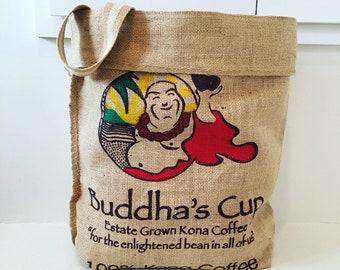 Buddha's Cup Farm Tote/ Beach Bag/ Market Bag/ Farm Style