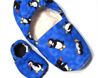 Penguin Adult Slippers (with matching baby if you'd like!)