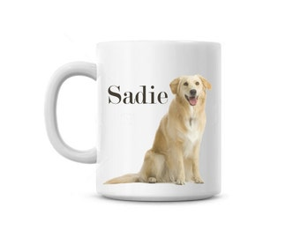 Coffee Mug cup Dog Custom photo and text Personalized pet gift puppy