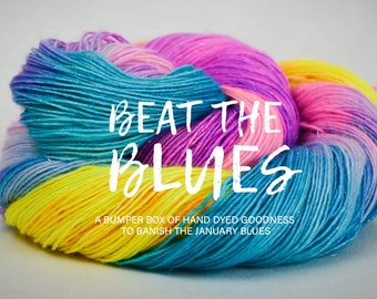BEAT the BLUES GIFTBOX - a box of hand dyed goodness to banish the January Blues