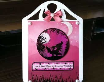 Female Birthday Card 3D Easel with a Dragon/Fantasy   - luxury personalised unique custom UK - Mum/Grandma/Daughter/Aunt/Niece/Sister/Wife