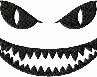 Evil Face digital embroidery design.