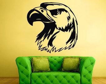 eagle wall decal Bird Wall Decal Bird Sticker bald eagle wall decal american eagle wall decal beagle wall decal (Z342)