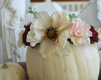 SALE* Romantic Fall Flower Crown