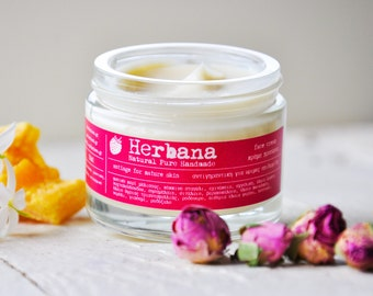Anti aging Face Cream, Multi-Correcting, Anti wrinkle, Antioxidant, Restore Skin's Luminosity, Organic Face Cream by Herbana Cosmetics