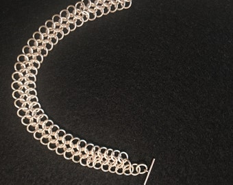 Silver chain maille bracelet