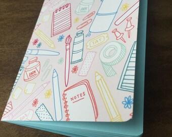ART SUPPLIES Traveler's Notebook Insert   - Choice of Patterns and 8 sizes