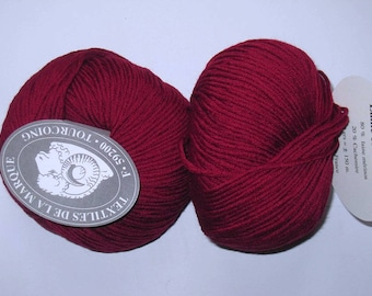 5 balls of wool-cashmere 142 cardinal Red