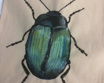 Customisable Green Beetle Shopping Bag/Tote