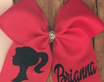 Personalized barbie big bow