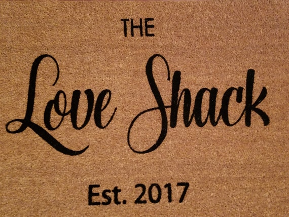 The LOVE SHACK Mat / Custom Doormat / B-52s Mat / Welcome Mat / Cute Door Mat / Fun Doormat / Gifts for Her / Housewarming / Gift for Him