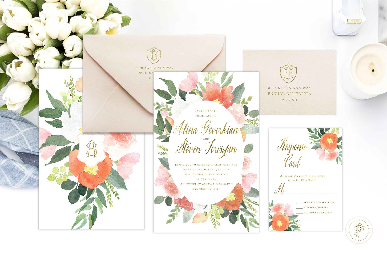 Classic Wedding Invitation | Wedding invitation | Calligraphy ...
