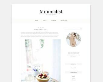 Minimal Feminine Wordpress Theme, Responsive Blog Theme, Wordpress Website