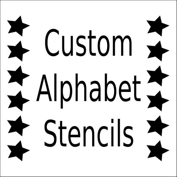 Alphabet stencil letter stencil any font small to large alphabet stencil letter stencil any font small to large reusable mylar for signs fabric large wall artweddings businesses from westlondonlaser spiritdancerdesigns Images