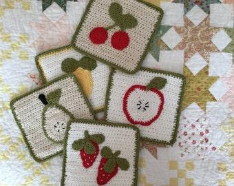 Crochet Fruit Hot Pad