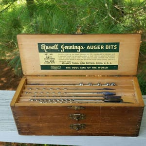 Stanley Russell Jennings Auger Bits Box 3 Tiers No. 100 Set No 32