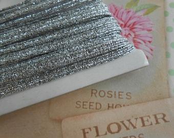 Silver Skinny Elastic 4 mm width 5 yards