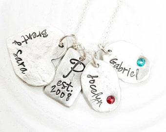 Birthstone Mother's Necklace - Personalized Family Necklace - Mother's, Couples & Children's Necklace for Mom - Gift for Mom