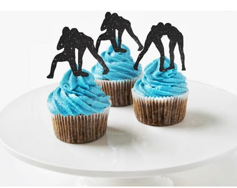 Wrestlers Cupcake Toppers Wrestlers Party Boy's Birthday Cupcake Toppers Sports Cupcake Topper Wrestlers Team Party Cupcake Toppers